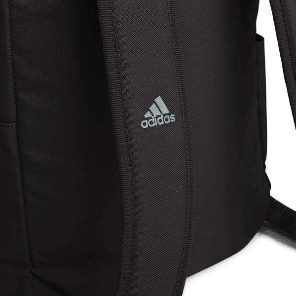 """""""Make racism wrong again"""" embroidered adidas Backpack black details 2 – Childish Clothing"""