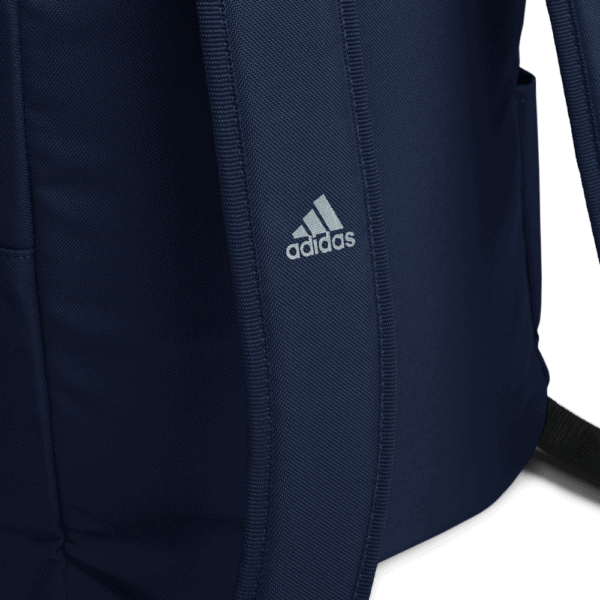 """""""Make racism wrong again"""" embroidered adidas Backpack blue details 2 – Childish Clothing"""