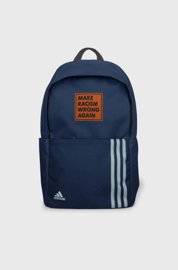 """""""Make racism wrong again"""" embroidered adidas Backpack – Childish Clothing"""