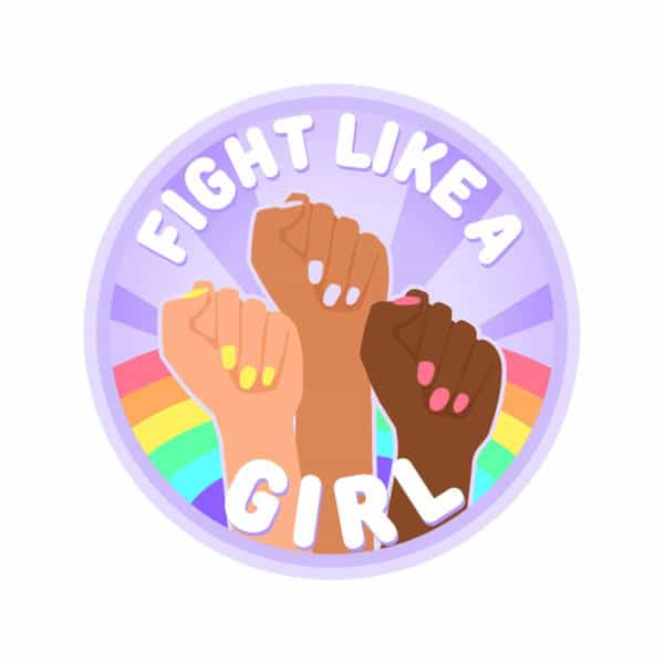 """""""Fight like a girl"""" Graphic – Childish Clothing"""